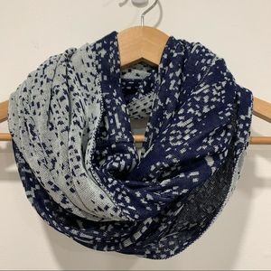 Reversible light weight infinity scarf blue grey